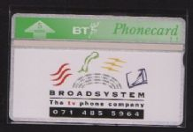 Phonecard Telephone card BT Broadsystem #221